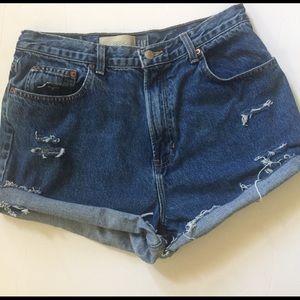 Vintage Gap High Rise Waist Cutoff Jean Shorts 10